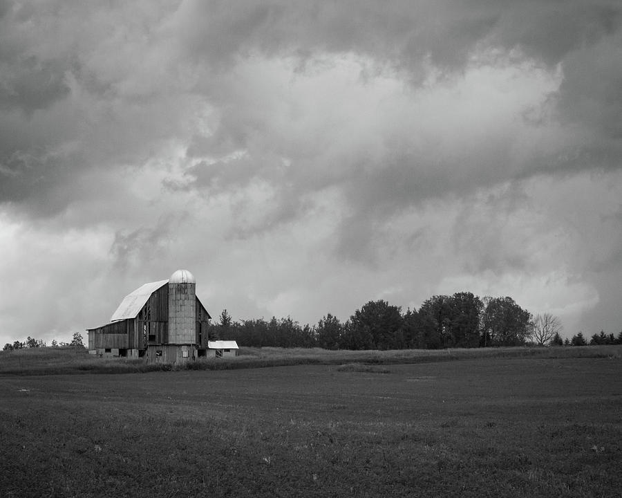 Barn Photograph - Barn with Storm Clouds by Kimberly Kotzian