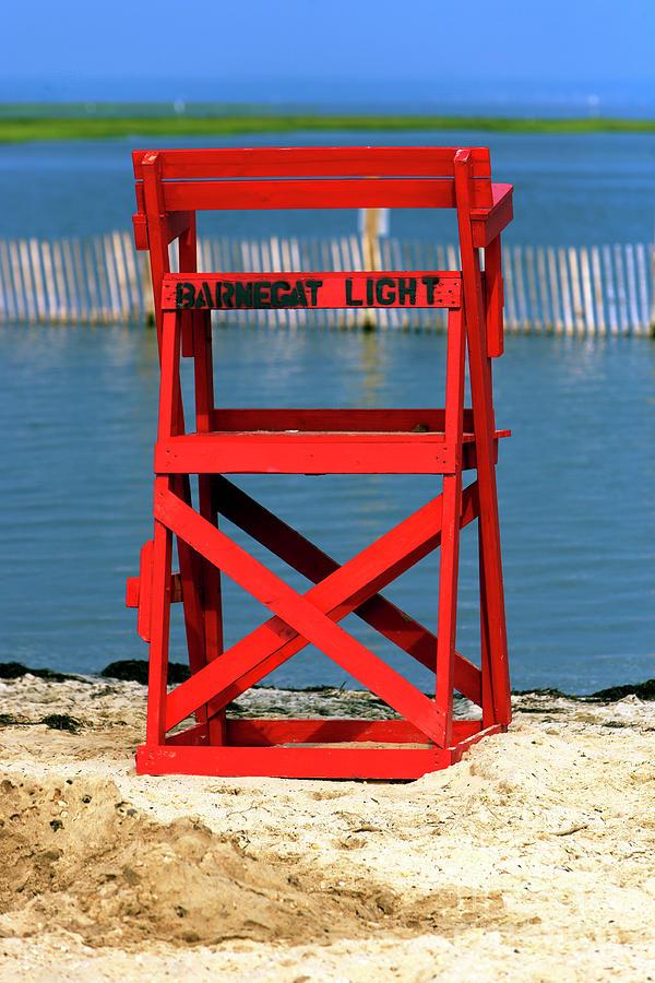 Lifeguard Chair Photograph - Barnegat Light Lifeguard Chair by John Rizzuto