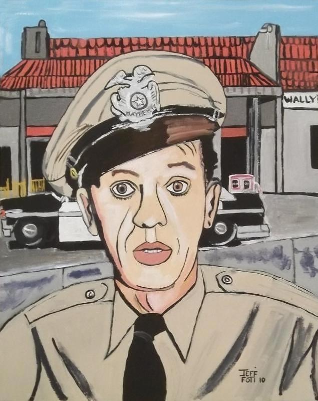 Barney Fife Painting by Jeffrey Foti