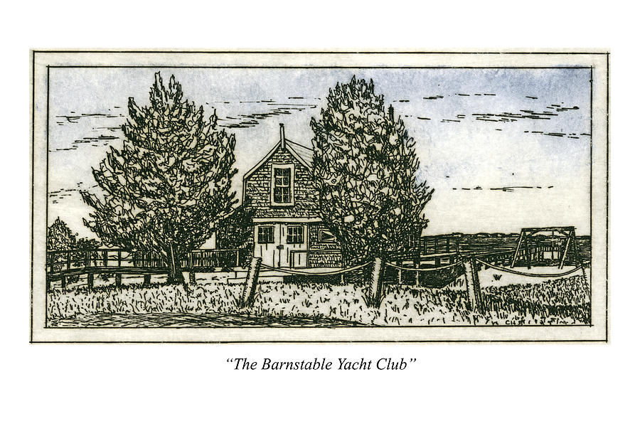 Barnstable Yacht Club Greeting Card by Charles Harden