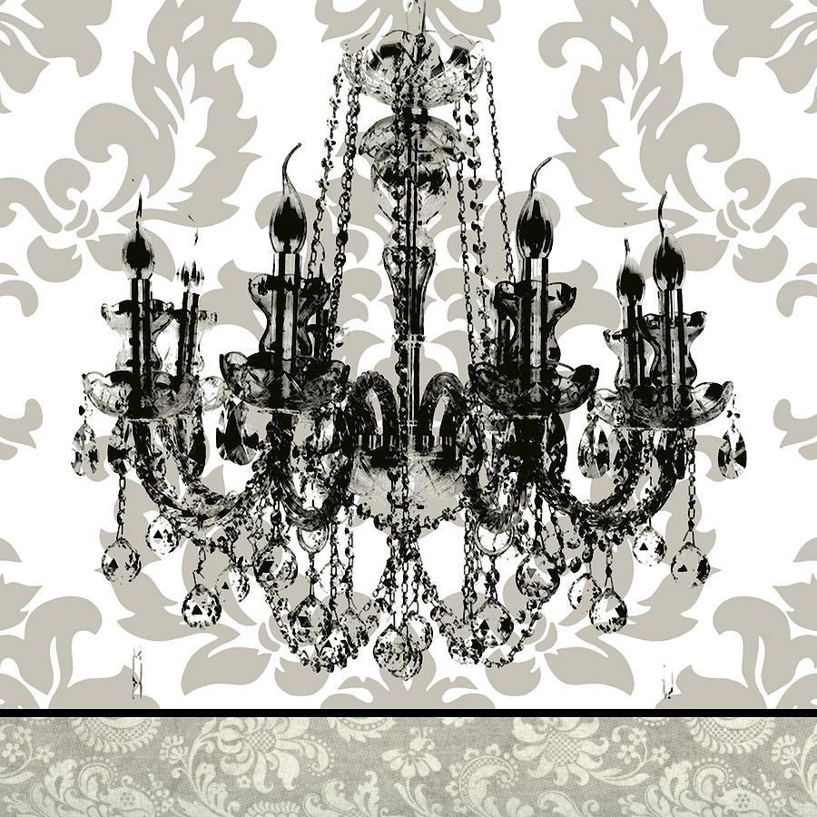 Baroque chandelier 2 painting by carol robinson aloadofball Image collections