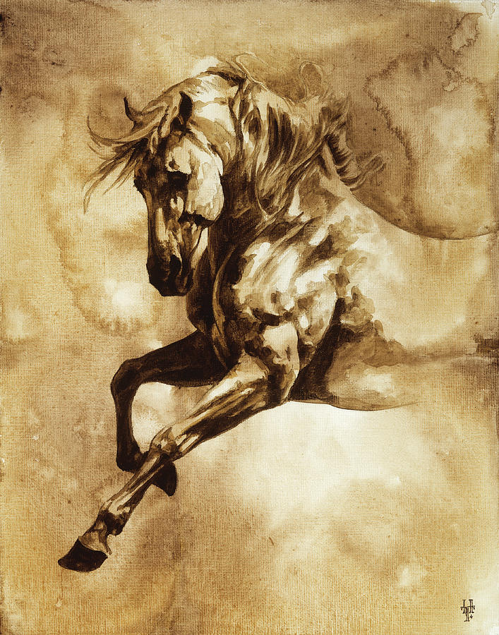 Horse Painting - Baroque Horse Series IIi-i by Heather Theurer