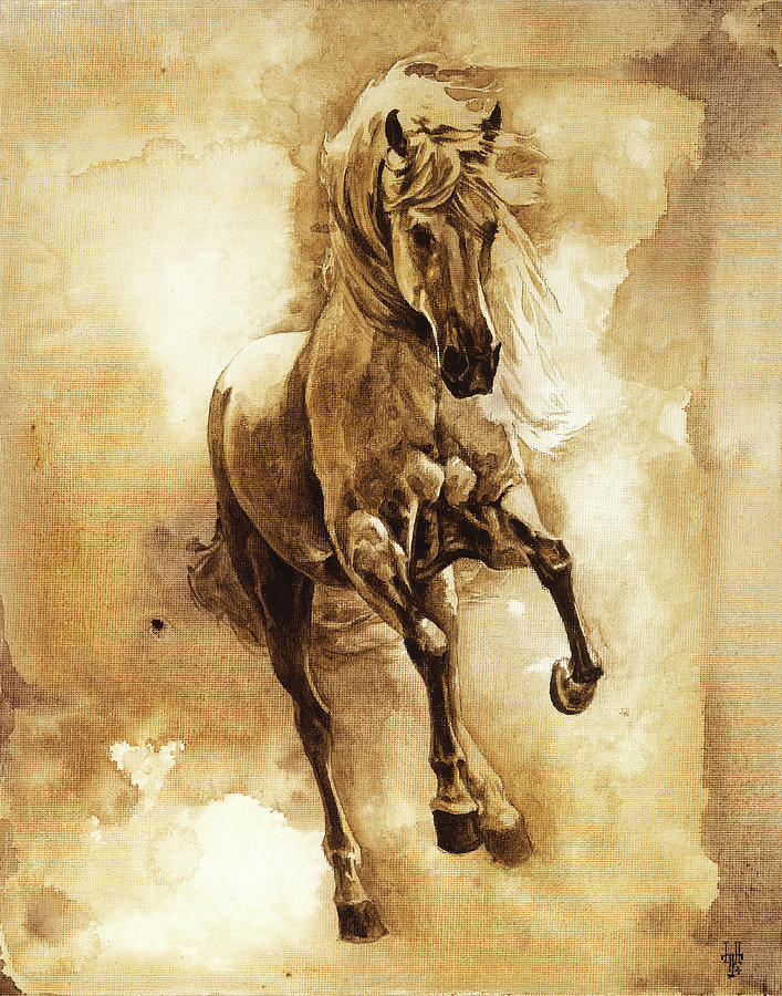 Horse Painting - Baroque Horse Series IIi-ii by Heather Theurer