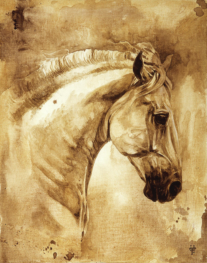 Horse Painting - Baroque Horse Series IIi-iii by Heather Theurer