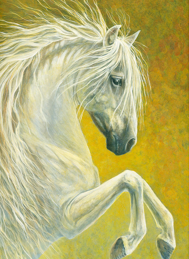 Horse Painting - Baroque by Shari Erickson