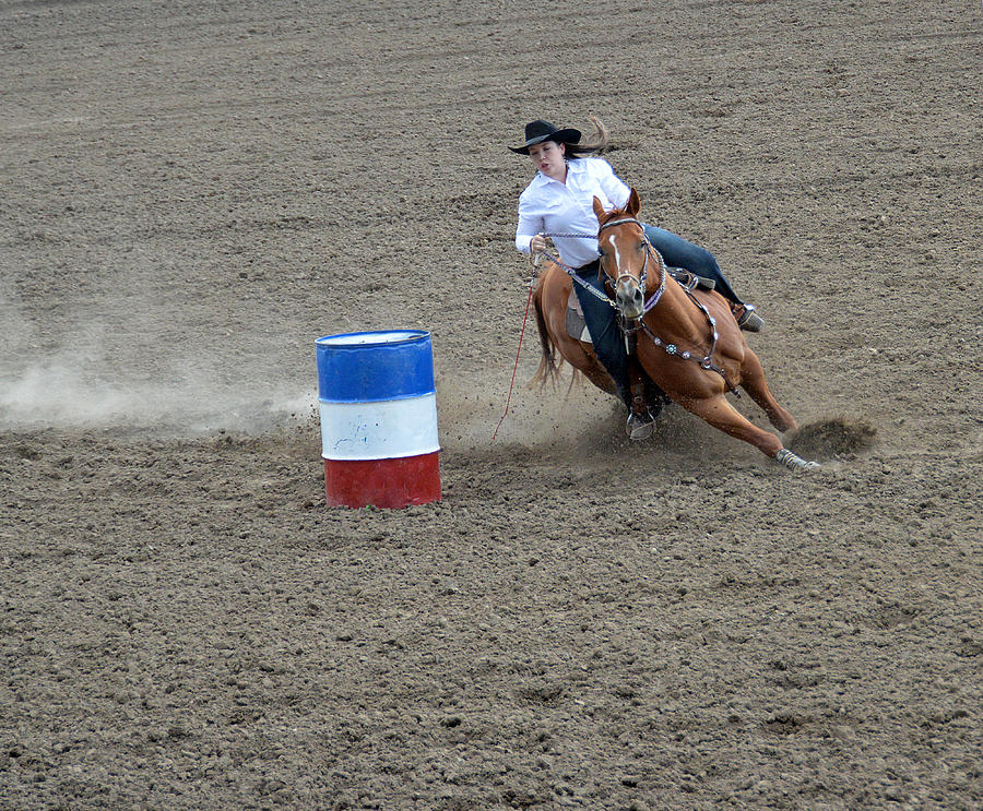 Horse Photograph - Barrel Racer Two by Fay Geddes