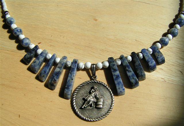 Sodalite Jewelry - Barrel Racer Necklace by Kim Souza