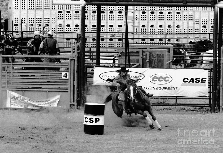 Rodeo Photograph - Barrel Racer by Susan Chandler