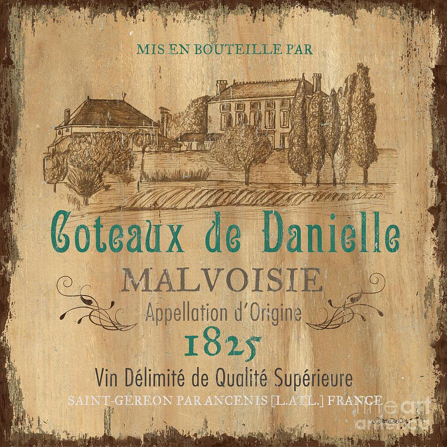 Wine Painting - Barrel Wine Label 2 by Debbie DeWitt