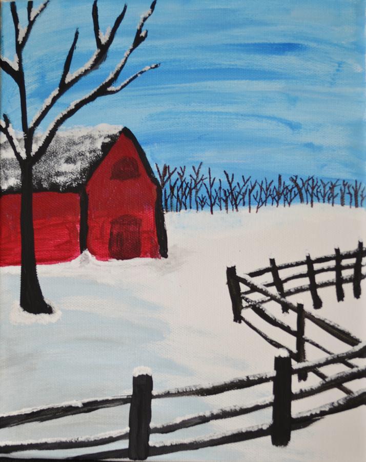 Barn Painting - Barren Barn by Morgan McLaren