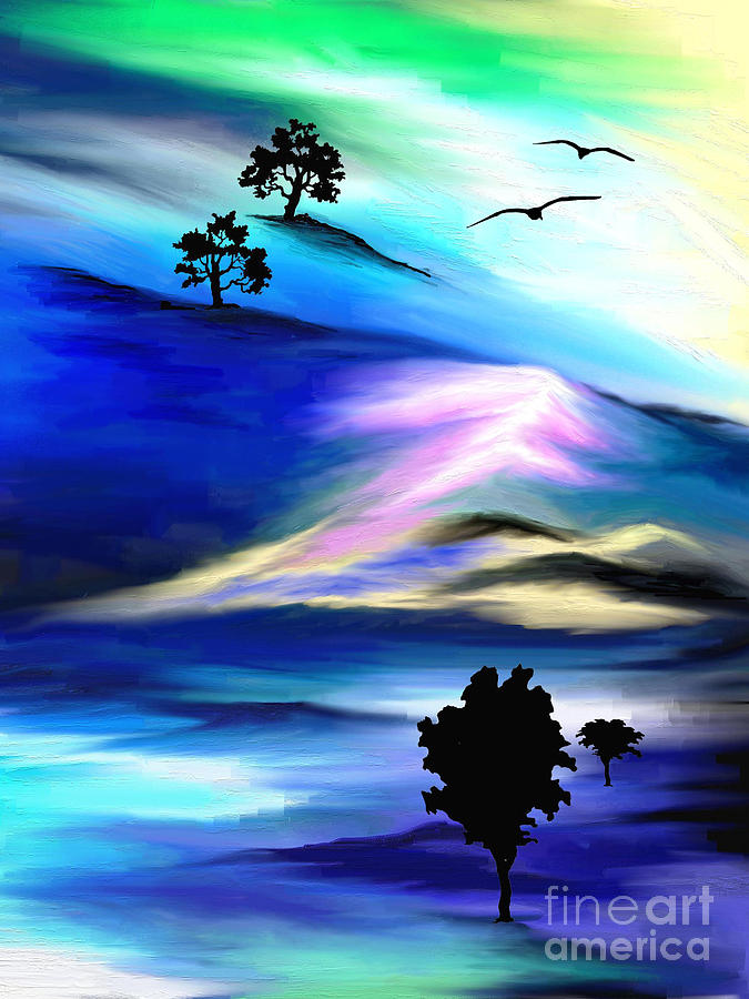 Psychedelic Painting - Barren by Jo Baby