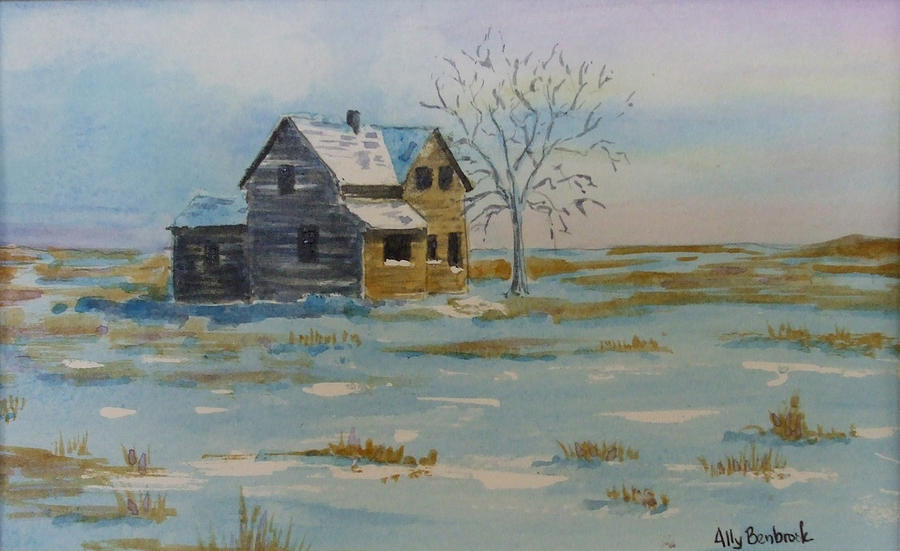 Abandoned Painting - Barren Prairie by Ally Benbrook