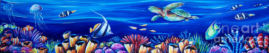 Sea Painting - Barrier Reef by Deb Broughton