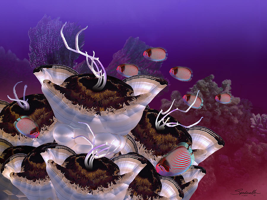 Reef Digital Art - The Jeuter Barrier Reef  by Spadecaller