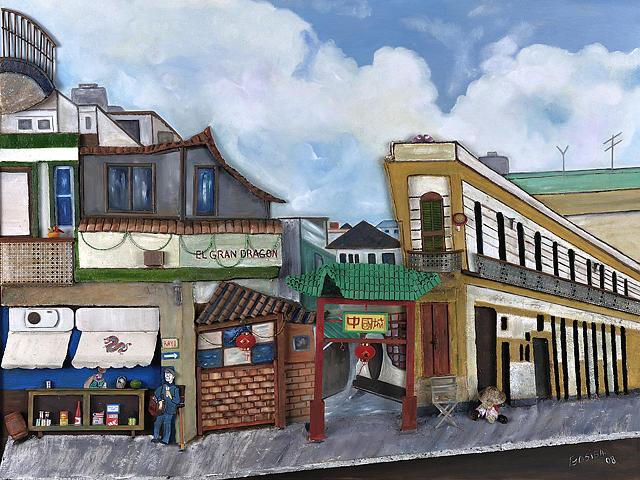 Casas Painting - Barrio Chino Habana by Marlene Gasiba