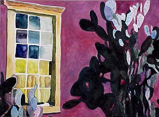 Southwest Painting - Barrio Window by Kitty Schwartz