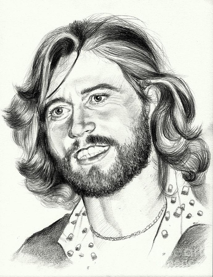Gibb Painting - Barry Gibb portrait by Suzann Sines
