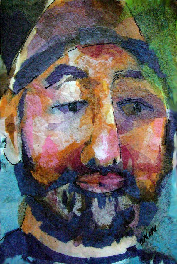 Beard Painting - Barry Hornblower by Arline Wagner