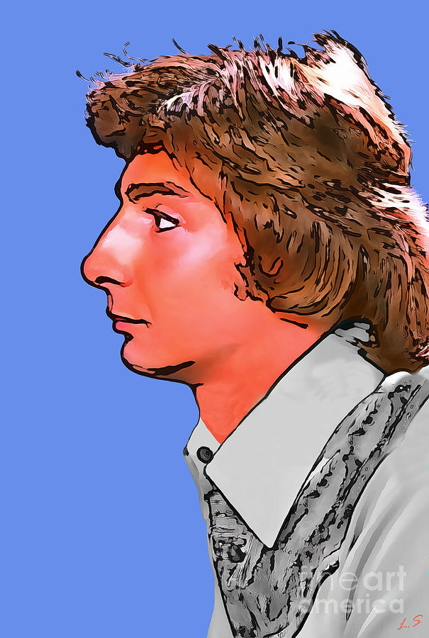 Barry Manilow Collection 1 Drawing By Sergey Lukashin