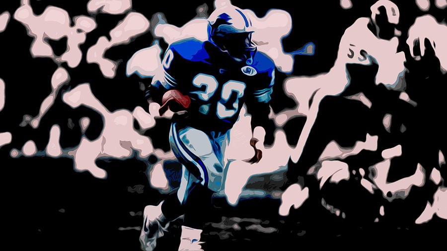 Barry Sanders Mixed Media - Barry Sanders 17a by Brian Reaves