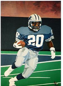 Barry Sanders Painting by David Ellis