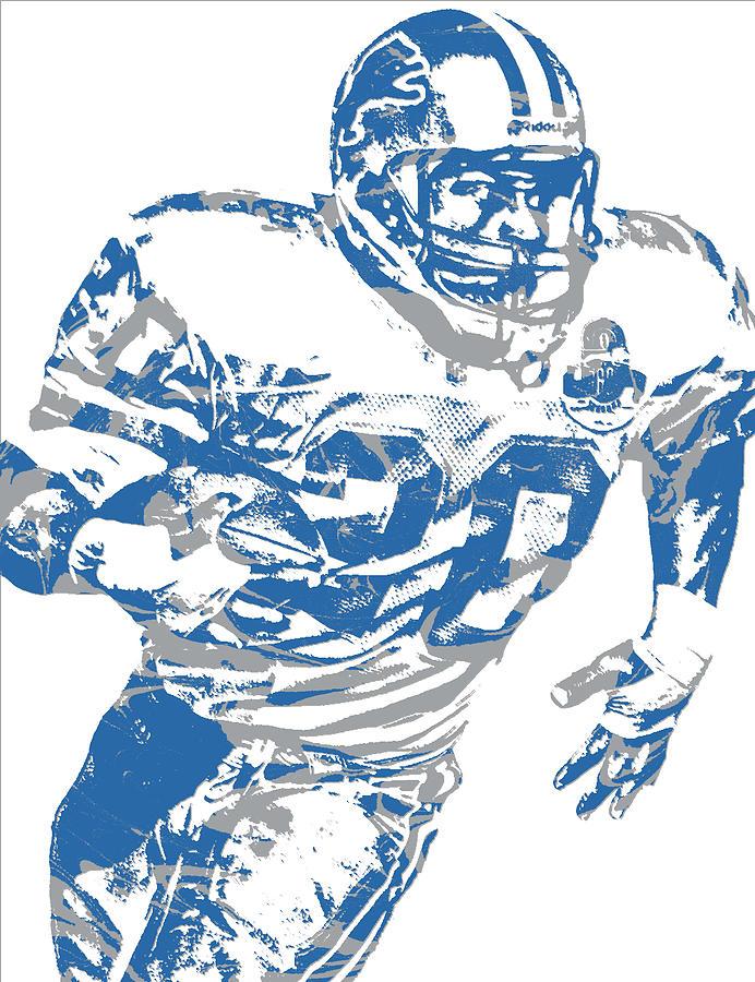 0dd00bc5 Barry Sanders Detroit Lions Pixel Art 1 by Joe Hamilton