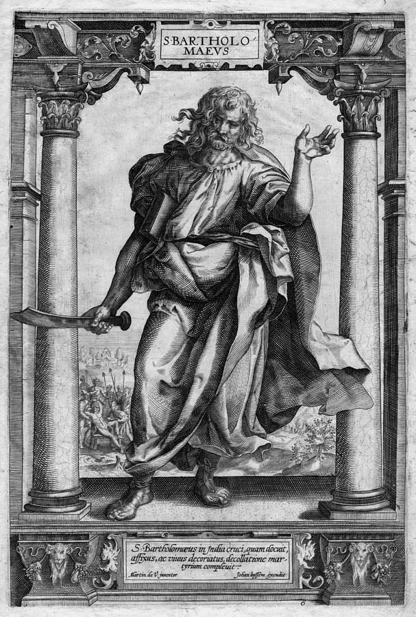 Saint Bartholomew Digital Art - Bartholomew the Apostle by Antique Images
