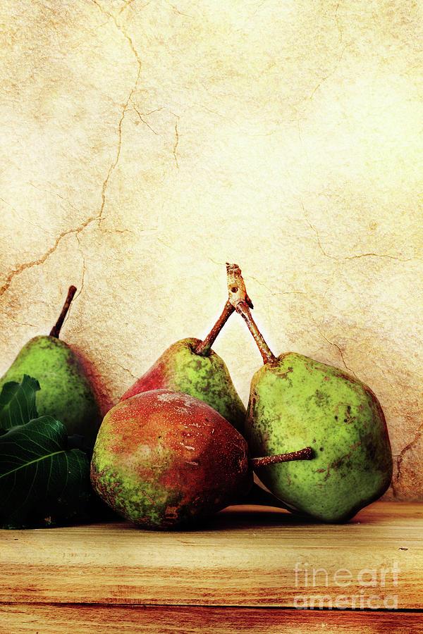 Pear Photograph - Bartlett Pears by Stephanie Frey