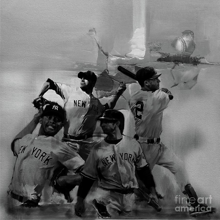 Baseball Painting - Base Ball Players by Gull G