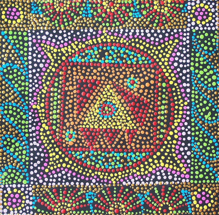 Acrylic Painting - Base Chakra by Vijay Sharon Govender