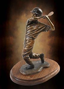 Little League Sculpture - Base Hit by Tom White