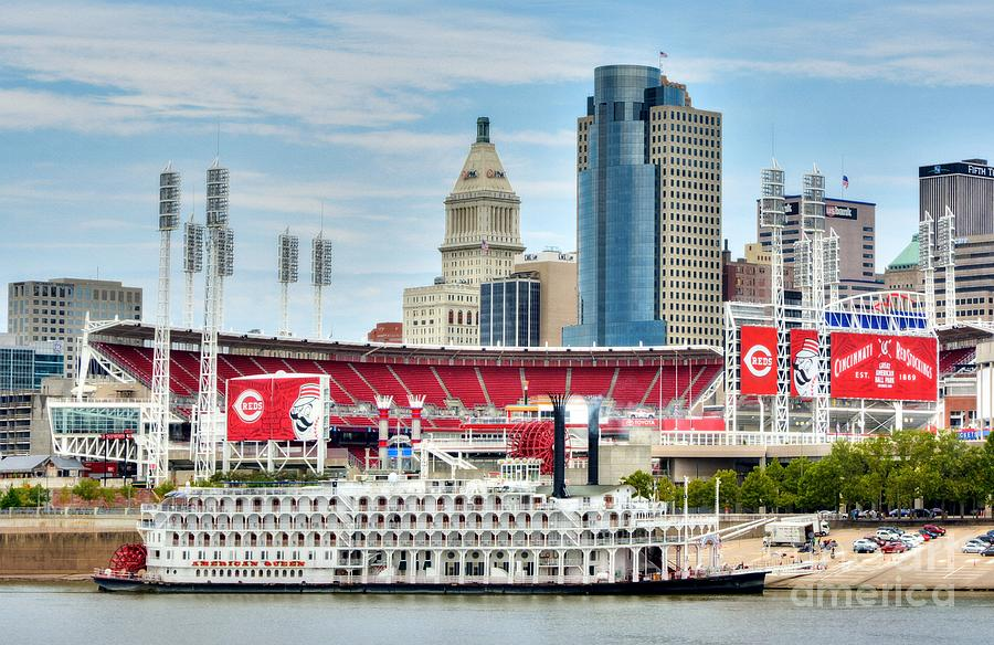 Baseball And Boats In Cincinnati by Mel Steinhauer
