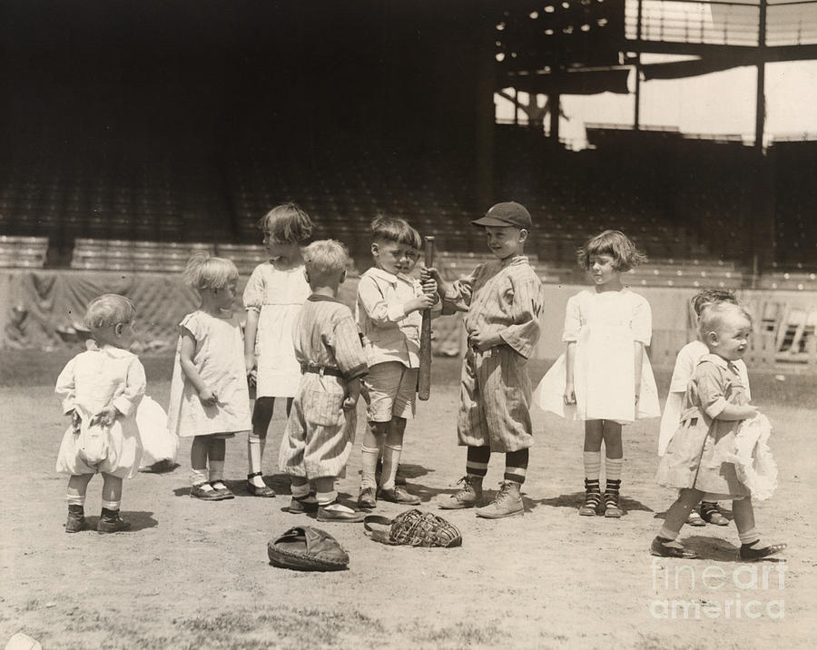 1910s Photograph - Baseball: Boys And Girls by Granger