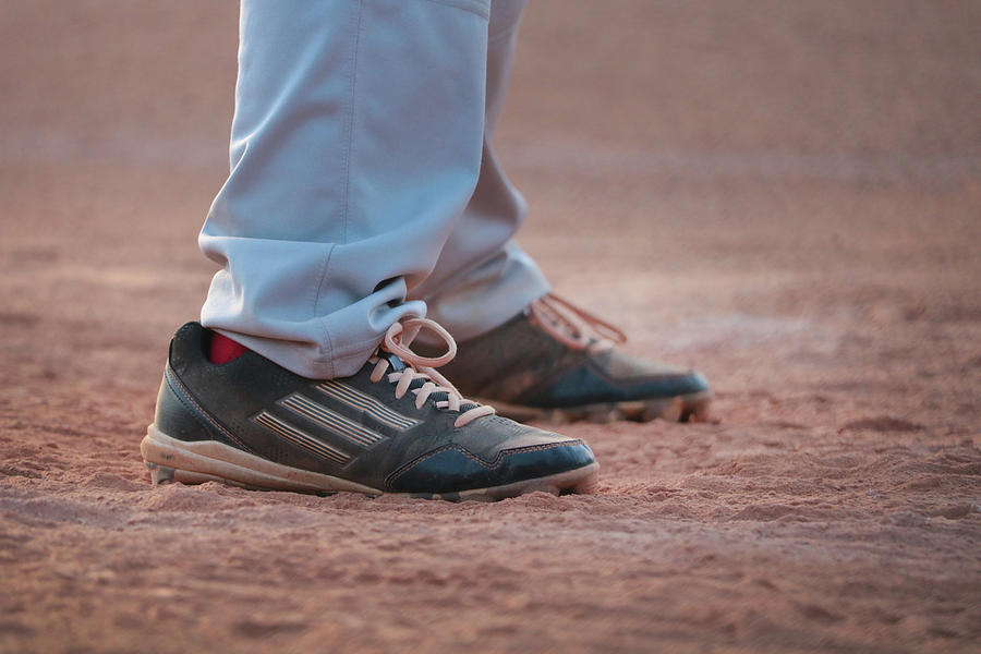 Baseball Cleats in the Dirt by Kelly Hazel