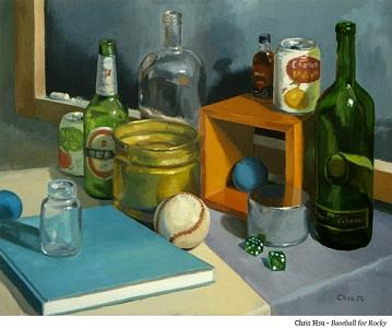 Still Life Painting - Baseball For Rocky by Chris Hsu