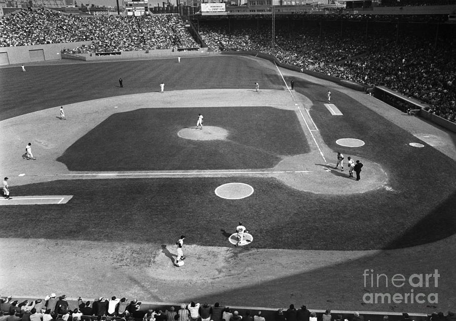 1967 Photograph - Baseball Game, 1967 by Granger