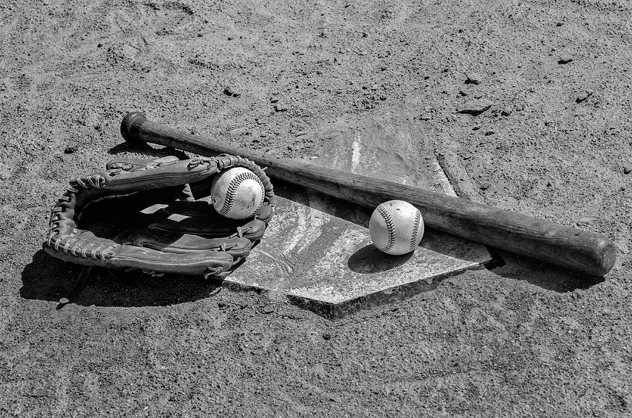 Baseball Game Photograph - Baseball Game In Black And White by Bill Cannon