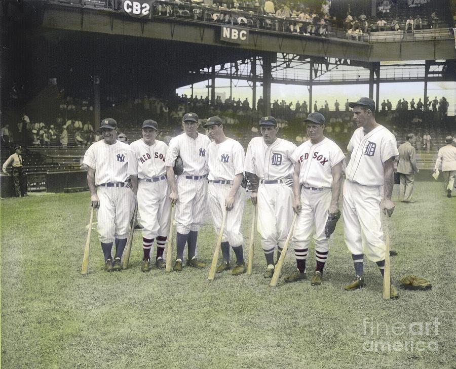 Baseball Greats At Griffith Stadium Photograph by Susan Bock