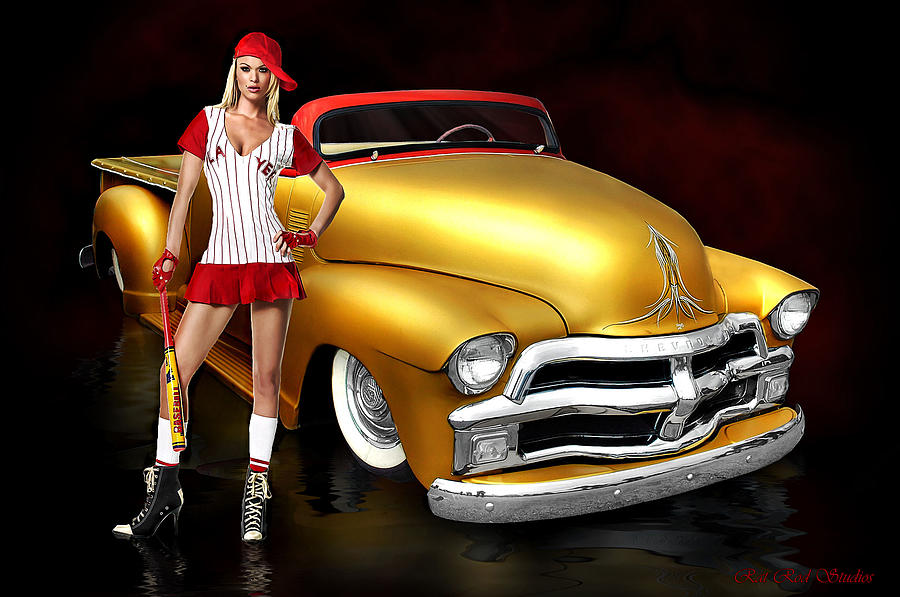Baseball Photograph - Baseball Hot Dogs Apple Pie And Chevrolet by Rat Rod Studios