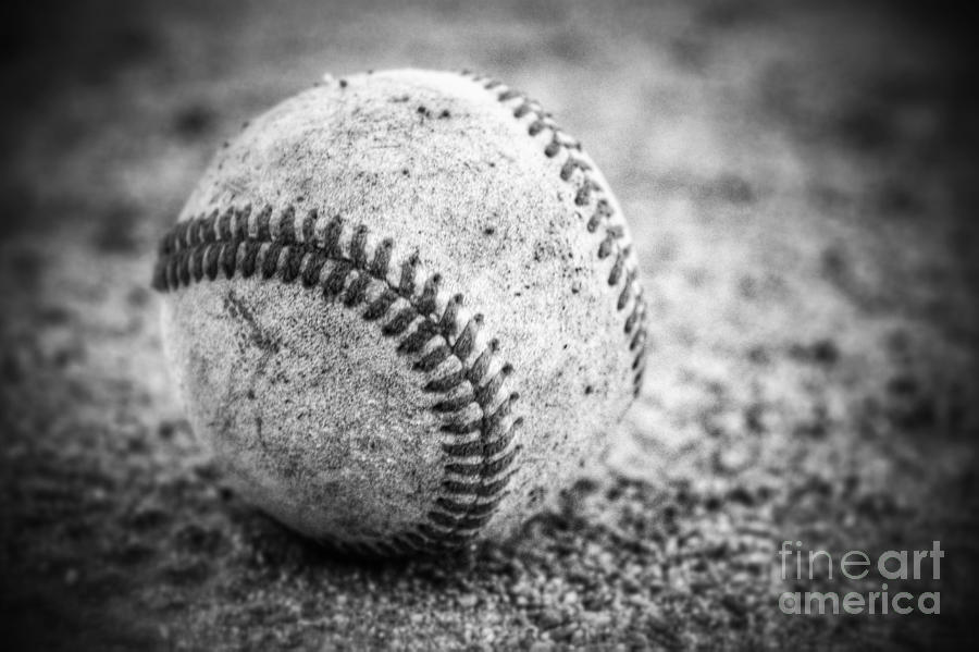 Baseball black and white photography