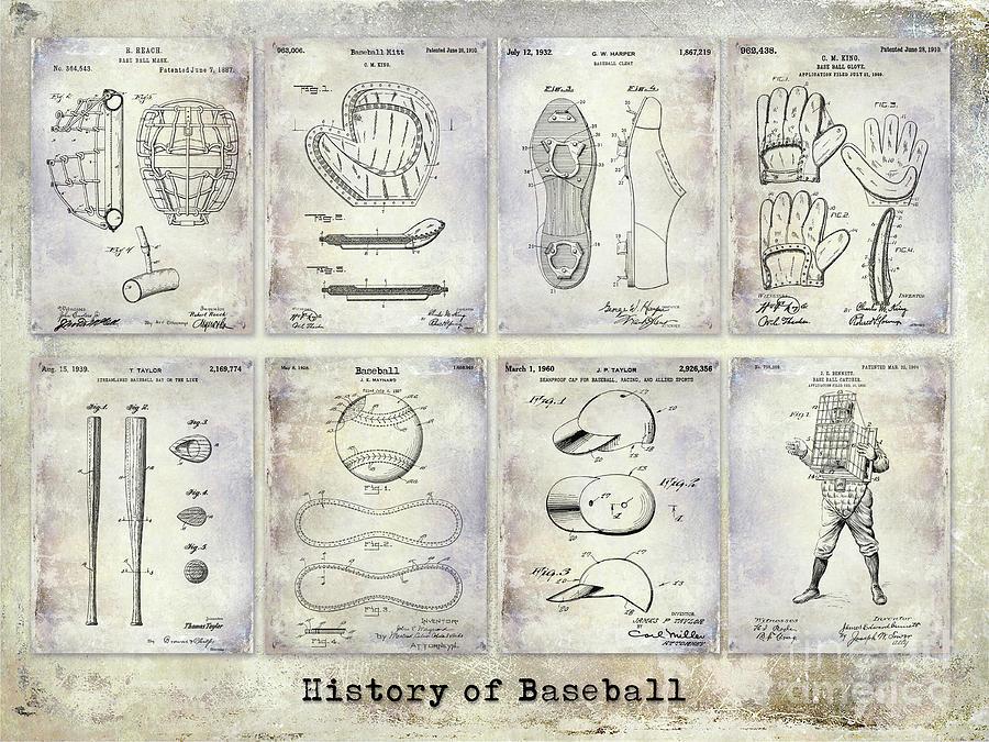 Baseball Patent Photograph - Baseball Patent History by Jon Neidert