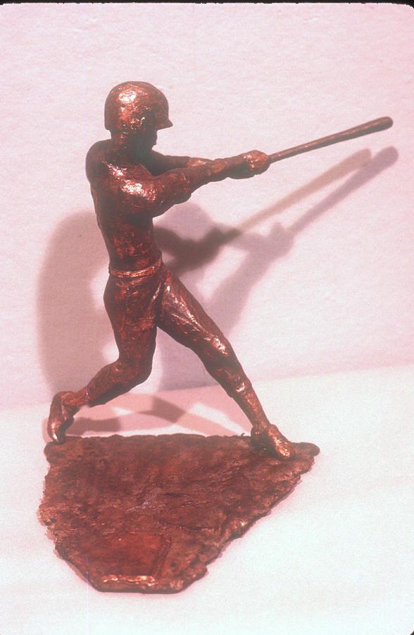 Baseball Player Sculpture