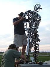 Sculpture Sculpture - Baseball Player by Todd Timler