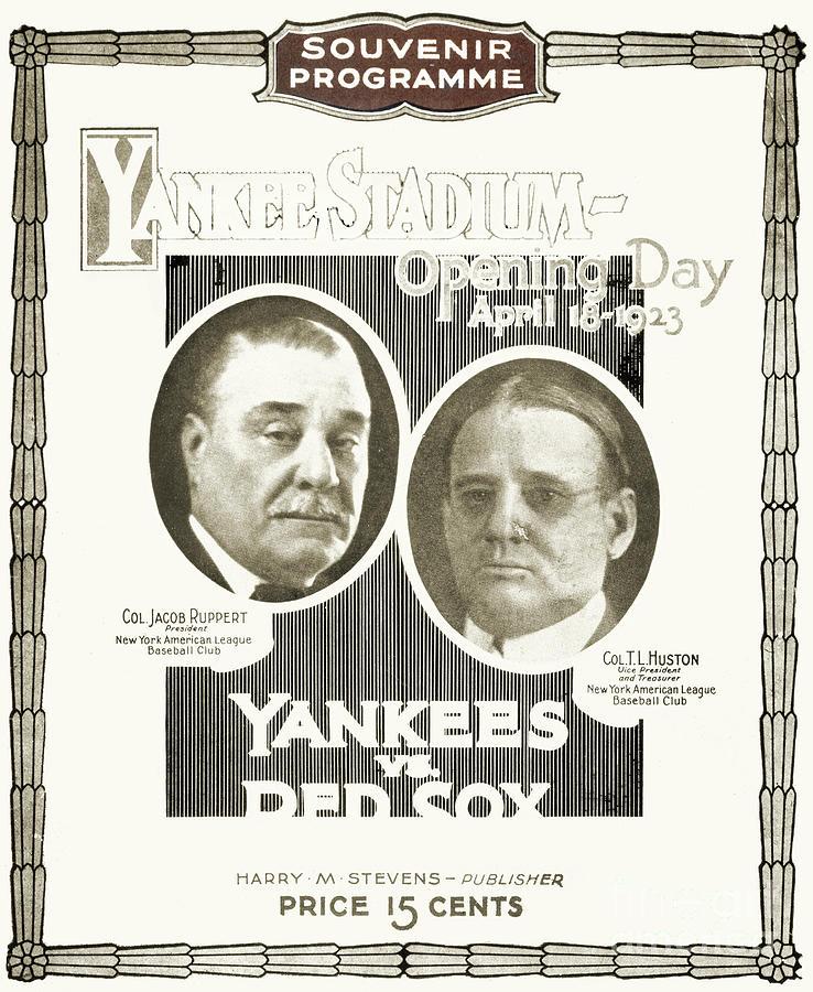 1923 Photograph - Baseball Program, 1923 by Granger