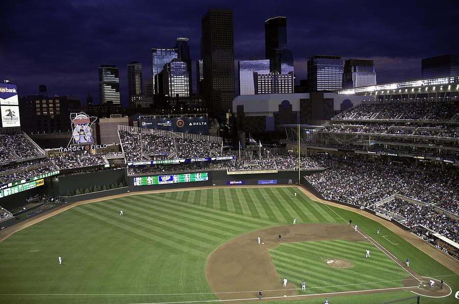 Baseball Photograph - Baseball Target Field  by Paul Plaine