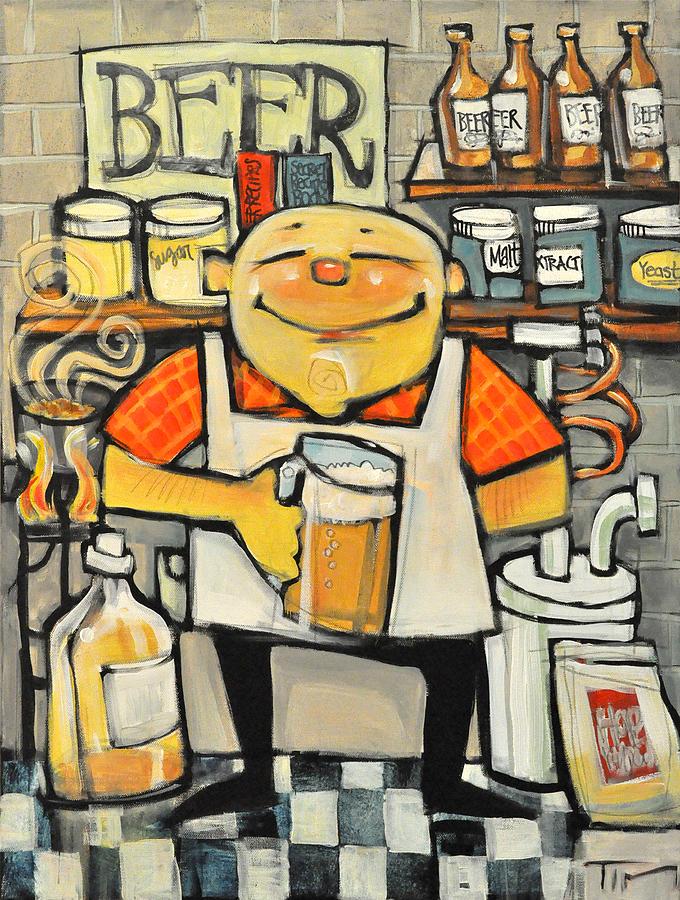 Basement Brewer Painting