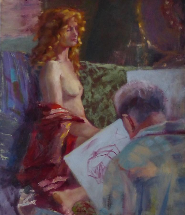 Woman Painting - Basheeba, Waiting by Irena Jablonski