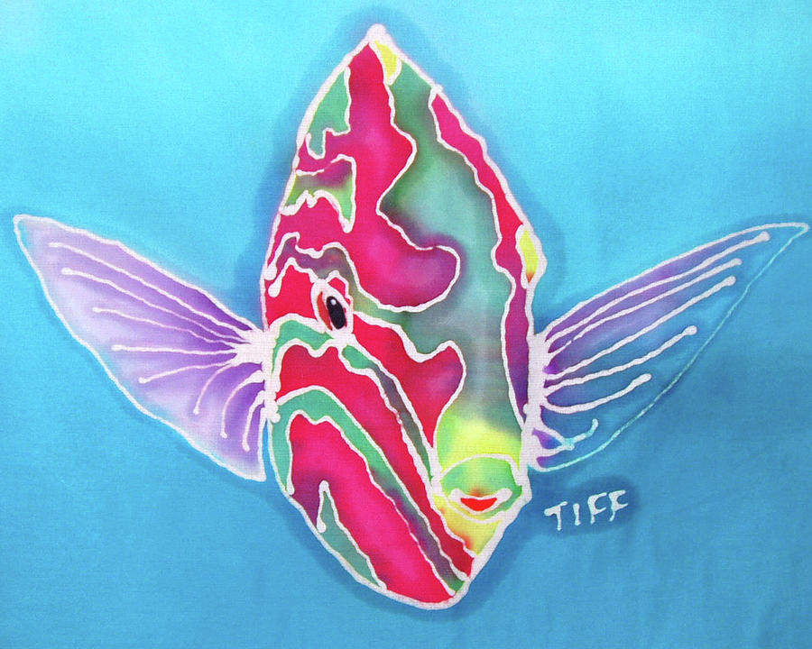 Tropical Fish Painting - Bashful by Tiff