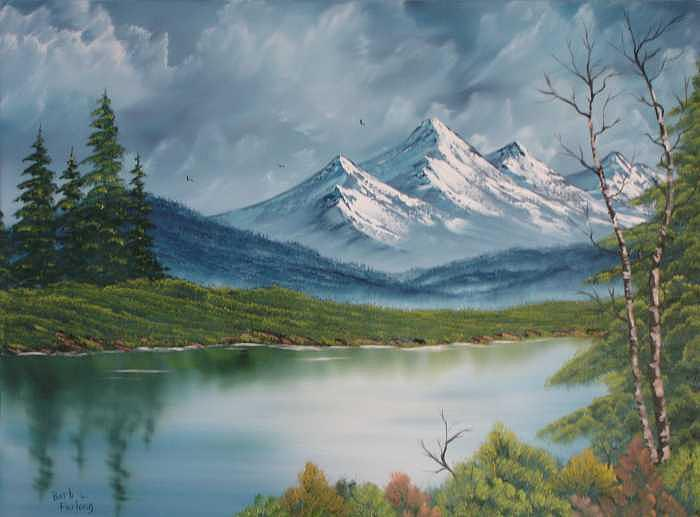 Landscape Painting - Basic Landscape Painting by Barbara Furlong