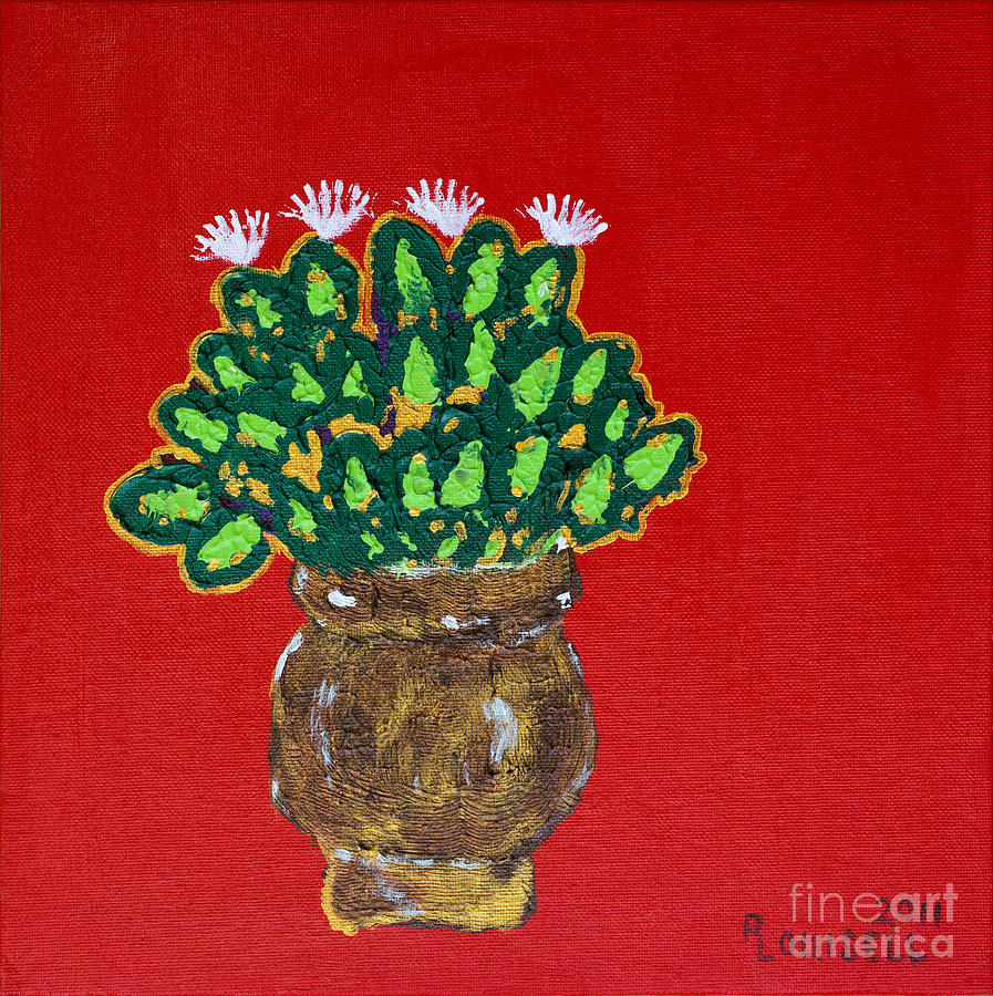 Herbal Painting - Basil In Bloom by Robyn Louisell